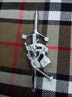 Scottish Great Highland Bagpipe Piper Kilt Pin/piper kilt pin Chrome Finish/pins