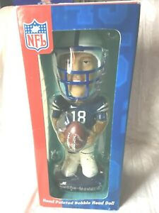 NFL PEYTON MANNING HAND PAINTED BOBBLE HEAD IN BOX