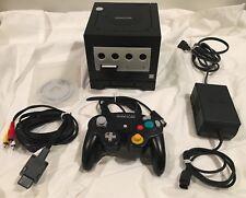 Nintendo Black Gamecube Console Gameboy Player Bundle w/ Disc, attachment, more