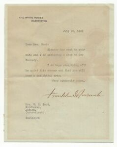 Franklin D. Roosevelt as POTUS - Autographed Letter (TLS), 1939 w JSA LOA