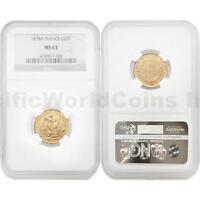 France 1878A 20 Francs Gold NGC MS63