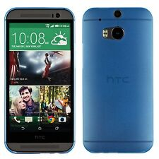 Yemota Pro Slim HTC One M8 Hard Slim Case Schutz Hülle Cover Bumper Tasche Blau