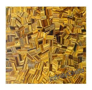 18 x 18 Inches Marble End Table Top Square Shape Coffee Table Tiger Eye Stones