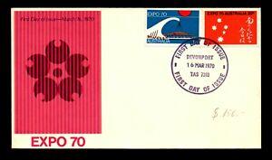 Australia 1970 Expo FDC / Devonport CDS / Very Light Crease - L14425