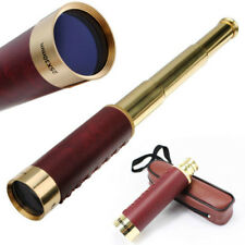 Zoomable Focus 25X30 Monocular Adjustable Stretch Pirate Brass Coated Telescope
