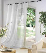 Douceur D'intérieur Panneau oeillets Métal Luminea Uni Blanc 140 x 240 cm