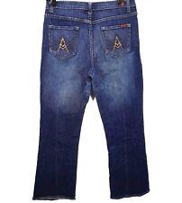 7 Seven for All Mankind Size 30 x 30 Dark Wash A Pocket Denim Jeans Womens Ladie