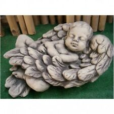 Baby NIMO in Angel Wings Sculpture Cast Stone Figure - Frost Resistant NEW