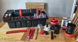 JOBO CPE 2 color print photo darkroom equipment PROCESSOR 4 bottles & 4 beakers