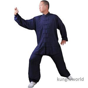 Soft cotton Tai chi Uniform Martial arts Shaolin Kung fu Wing Chun Wushu Suit