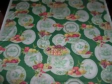 COWTAN & TOUT JANE CHURCHILL FRENCH COUNTRY FRUITS PLATES TOILE FABRIC 14 YARDS