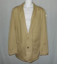 Mens Duluth Trading Co Two Button Blazer Jacket Size L Tall Tan Presentation