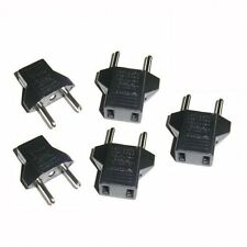 New 5PCS US to EU AC Power Plug Converter Travel Charger Outlet Adapter