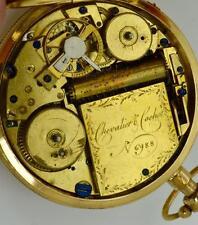 Museum 18k gold&enamel MUSICAL REPEATER Chevalier&Cochet watch c1800. Napoleon I