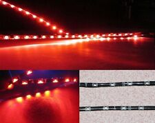2pcs 120cm LED Side-emitting Shine Strips Side Glow Flexible Car Brake lamp Red