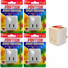 4 Pc Single Port Power Outlet Wall Tap Electrical Adapter On Off Lighted Switch