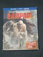 Rampage Blu-ray + DVD No Digital  Dwayne Johnson w/ slipcover