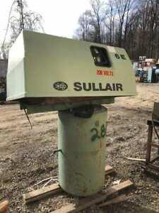 Sullair 6E-10.0-XH 10HP Reciprocating Air Compressor 175PSIG 5729hrs 3PH 50gal
