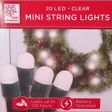 NEW MINI STRING LIGHTS 20 LED CLEAR BATTERY OPERATED Bed Baths & BEYOND NIB