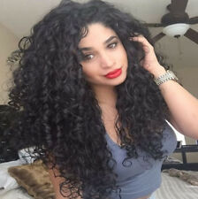 Layered Brazilian Big Hair Wigs Sexy Black Long Curly Wig with/no Baby Hair