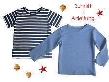 Schnitt+ Nähanleitung Kinder T-Shirt als Ebook Gr.92-128