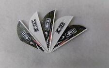 Bohning Blazer Arrow Vanes White/Flying Tiger Shark w/Logo Pkg of 36