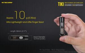 NITECORE TIKI-LE 300 Lumen Red/Blue LED Keychain Rechargeable Flashlight Torch