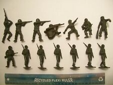 14 MARX W.O.W. BATTLEGROUND WW11 AMERICANS MARINES 60MM 1/32 PLASTIC PLAYSET