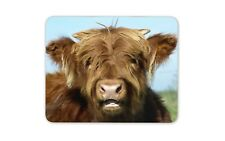 Fluffy Brown Cow Mouse Mat Pad - Farming Cows Animal Gift PC Computer #8234