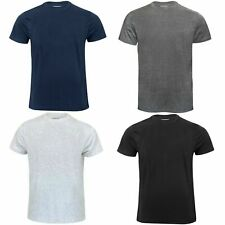Mens Plain T-shirt Cotton Crew Neck Mens T-Shirts Tee Top Regular Casual promo c