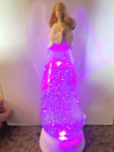 CHRISTMAS ANGEL LIGHTED 12 INCH TALL CHANGES COLORS