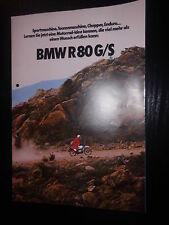 Prospetto SALES BROCHURE BMW R 80/GS dati tecnici su rotaie MOTO BIKE