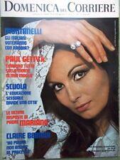 La Domenica del Corriere 11 Aprile 1972 Padre Mariano Garbo Wolff Bette Davis Tv