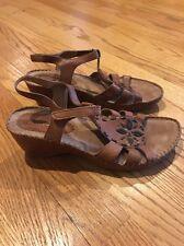 HUSH PUPPIES Leather Clogs Wedges Pumps Sandals High Heels Women Shoes Sz 9.5 #