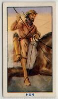 Nomadic Asiatic Hun  Warrior Weapons 1930s Trade Ad Card