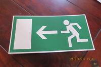 Rettungszeichen - Fluchtweg - Rettungsweg Schild links Kunststoffschild