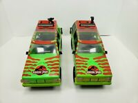 Lot Of (2)- Jurassic Park JUNGLE EXPLORER Figure Trucks Vehicles 1993 Kenner.