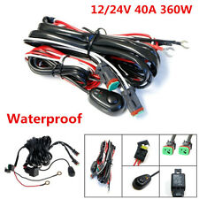 2Lead 12V 40A 360W Car LED Work Light Bar Wiring Harness Kit ON/OFF Switch Cable