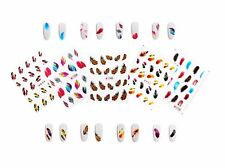 5 Sheets Feather Nail Art Water Slide Decals Transfer Stickers Tattoos Tips Deco