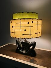 Mid Century Vintage Style 2 Tier Fiberglass Lamp Shade Retro Clip Top