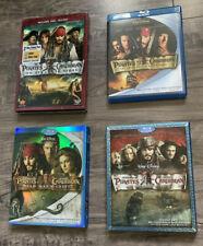 Lot Of 4 Blu Ray Pirates Of The Caribbean Walt Disney Movies
