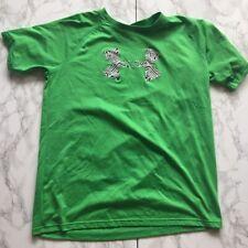 Youth Girls XL Under Armour Loose Heatgear Green Shirt