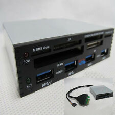 "3.5"" Front Panel PCI-E To USB 3.0 4 Port Hub Combo+2.0 CF XD Card Reader 4 Port"