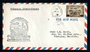 Canada - 1934 First Flight Airmail Cover McKenzie Island to Kenora