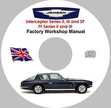 Jensen Interceptor and FF Factory Workshop, Service and Repair Manual on CD-ROM