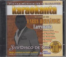 Larry Hernandez Serie Disco De Oro Vol 110 Karaoke New Nuevo SEALED