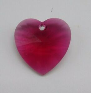 Swarovski Crystal Bordeaux 28mm Heart 6228 Pendant/ Suncatcher; Dark Red; Large