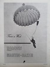 12/1963 PUB MARTIN BAKER EJECTION SEAT PARACHUTE ESCAPE SYSTEM PILOT RAF AD