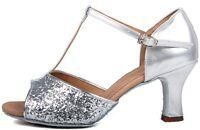 Brand New Women's Ballroom Latin Tango Dance Shoes heeled Salsa 12 style Hot