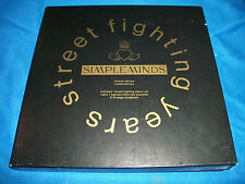 SIMPLE MINDS Street Fighting Years BOX SET CD 1989 Book Csssettes UK L/E #5623